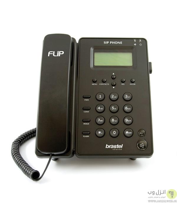 تماس تصویری با انواع تلفن های ثابت IP تصویری