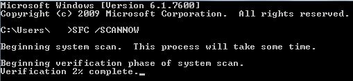 تعمیر فایل های سیستمی خراب با ابزار SFC