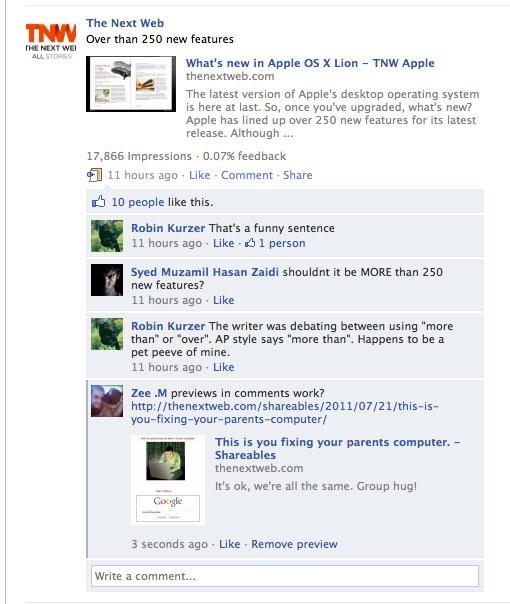 نحوه اشتراک گذاری و اضافه کردن لینک در کامنت فیس بوک