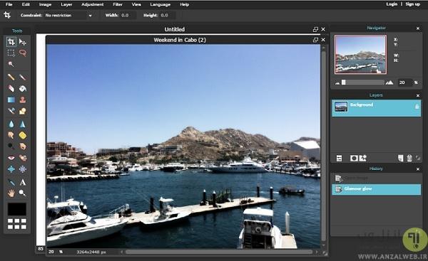 اضافه کردن افکت های فتوشاپ به عکس و به صورت آنلاین در Pixlr
