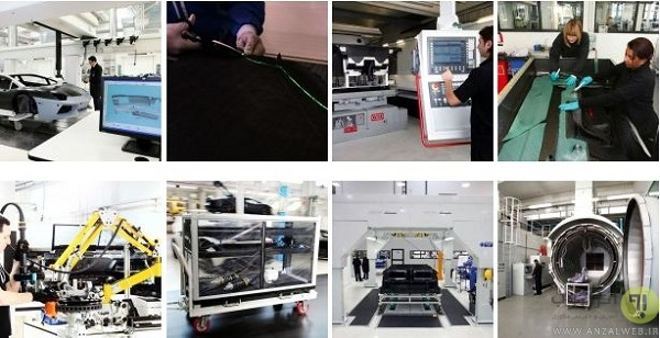 خط تولید خودروهای لامبورگینی