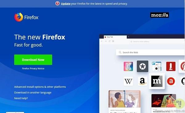 آخرین ورژن فایرفاکس
