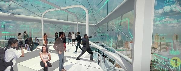 آسمان خراش دایره ای با 72 واحد آپارتمان و تولید برق از انرژی پاک برای کل شهر