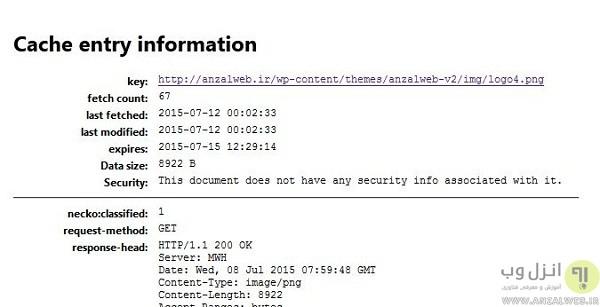 بازیابی و دسترسی به فایل و عکس از روی کش مرورگر موزیلا فایر فاکس (Mozilla Firefox)