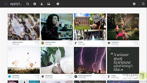 استفاده instagram در ویندوز 10 8 7