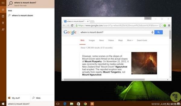 نمایش نتایج جستجو شده کورتنا (Microsoft Cortana) از بینگ به گوگل