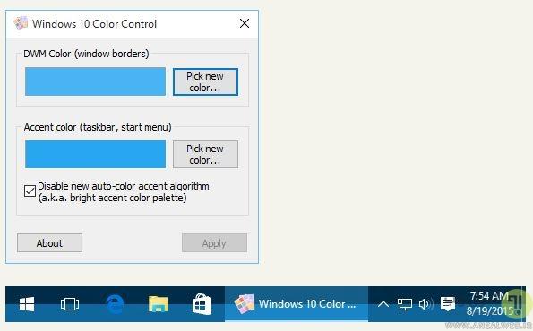 تغییر رنگ حاشیه پنجره ها (Windows Borders)، تکسبار و استارت منو در ویندوز 10
