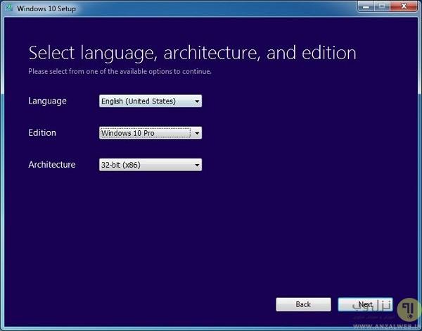 راهنمای دانلود و نصب گام به گام ویندوز 10 - MediaCreationTool