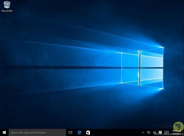 دسکتاپ ویندوز 10 (Windows 10 Desktop) - آموزش استفاده از ویندوز 10
