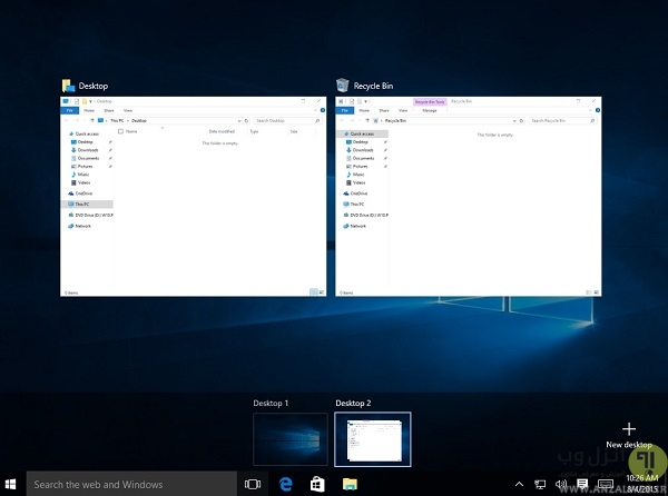 تسک ویو ویندوز 10 (Windows 10 Task View) - آموزش استفاده از ویندوز 10 - آموزش استفاده از ویندوز 10