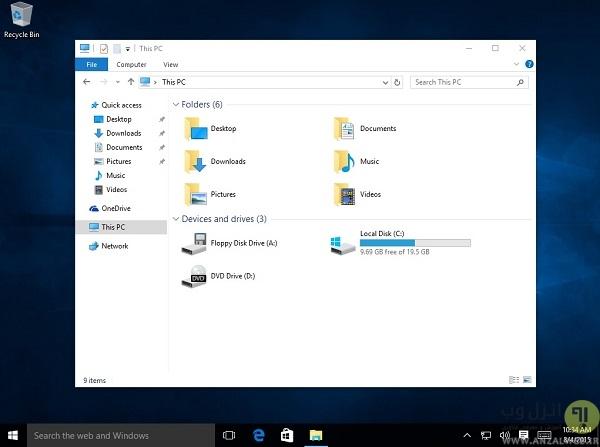 فایل اکسپلورر بهینه شده ویندوز 10 (Windows 10 Explorer) - آموزش استفاده از ویندوز 10