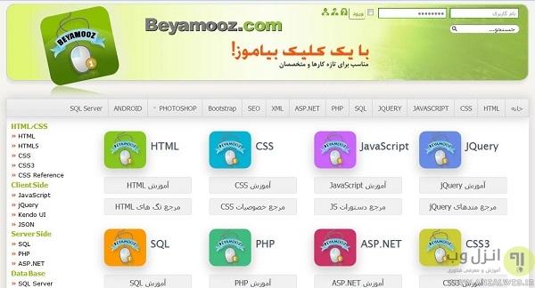 w3schools فارسی