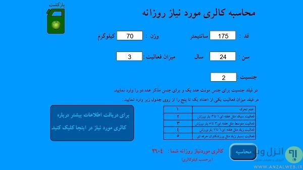 نرم افزار های فارسی زبان کم کردن یا اضافه کردن وزن برای کامپیوتر (PC)