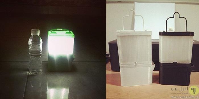 این لامپ تمام شب تنها با استفاده از یک لیوان آب نمک روشن می ماند