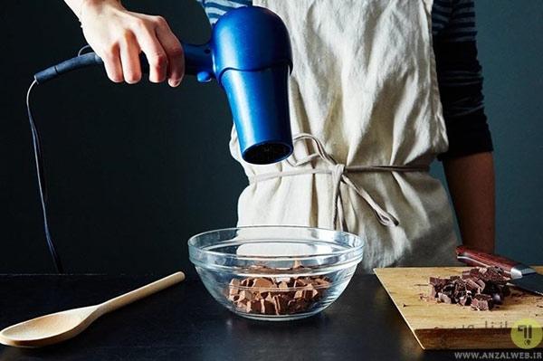 گرم کردن مواد غذایی با استفاده از سشوار
