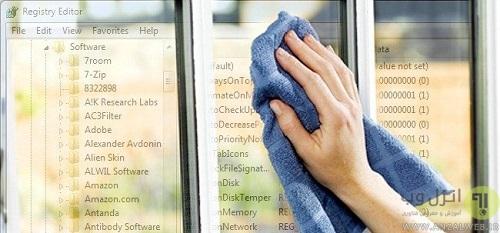 regisrty cleaner  استفاده از نرم افزار های پاک و اصلاح کننده رجیستری ویندوز
