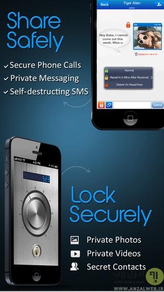 مخفی کردن تماس و اس ام اس  از دید دیگران در آیفون و دستگاه آی او اس (iOS Devices)