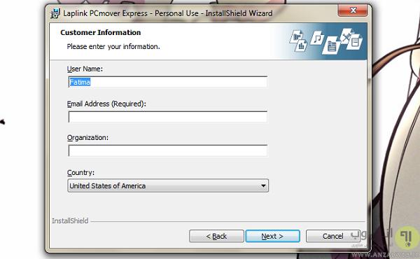 انتقال خودکار تمام تنظیمات و فایل های سیستم قبلی به سیستم جدید
