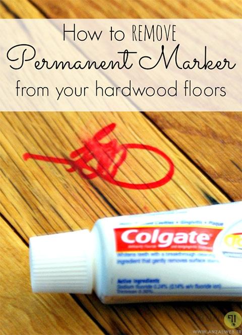 پاک کردن جوهر ماژیک از سطوح چوبی خمیر دندان