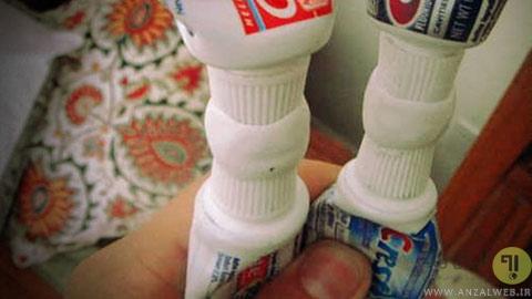 پرکردن تیوب خمیر دندان ها