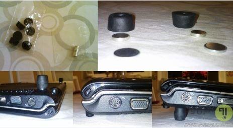 استفاده از آهنربا برای قرار دادن لپ تاپ