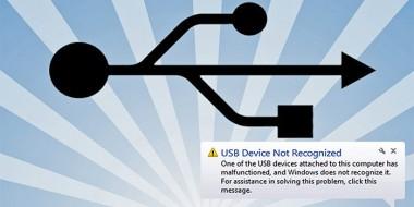 بهترین روش های حل مشکل خطای USB Device Not Recognized ویندوز