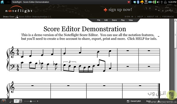 Noteflight ، بهترین منبع آنلاین نوت های موسیقی