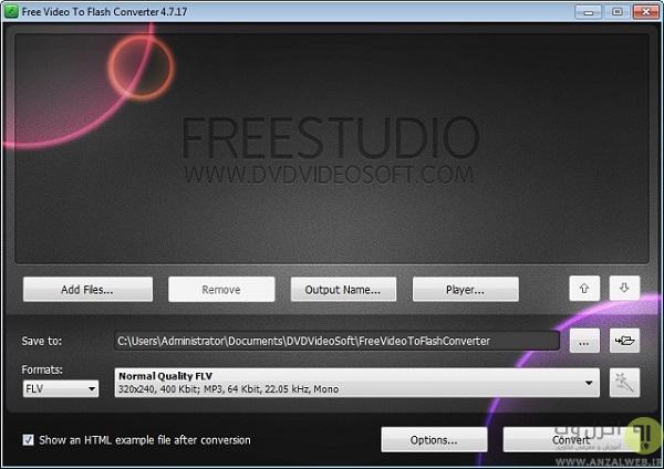 کم کردن حجم ویدیو ها با استفاده از Free Video to Flash Converter
