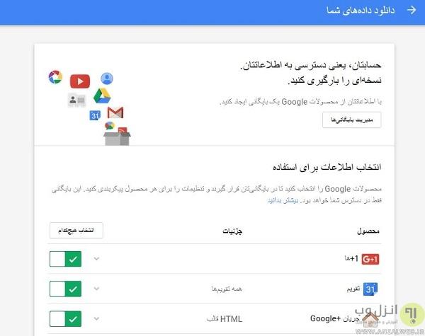 استخراج اطلاعات ثبت شده در گوگل