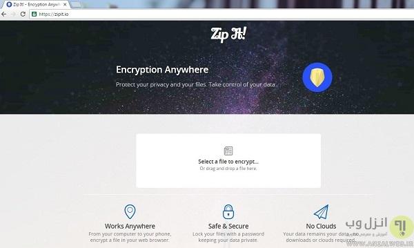 چگونه بدون نرم افزار و سریع بر روی فایل های خود به صورت آنلاین رمز بگذاریم؟ How to Password Protect Files From Anywhere without Install Software