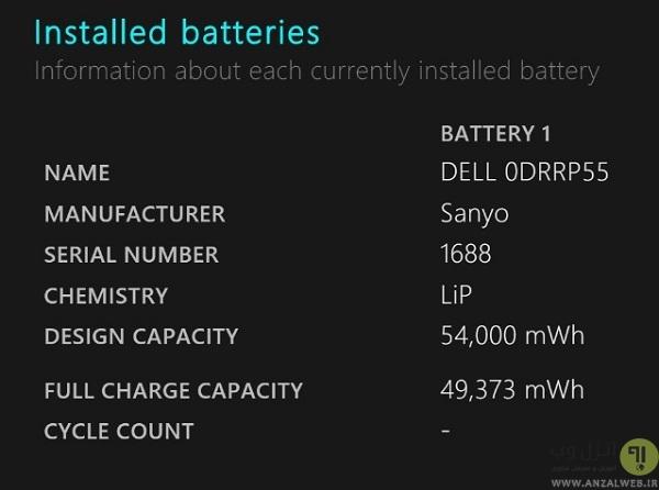 بررسی مدت زمان باقی مانده عمر باتری لپ تاپ با استفاده از CMD ویندوز