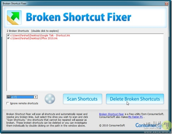 Broken Shortcut Fixer