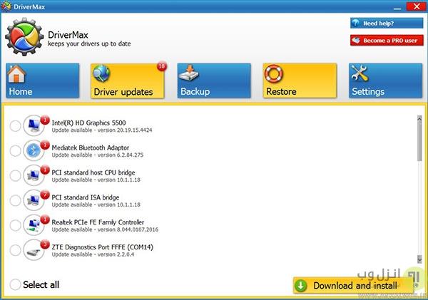 بهترین نرم افزار های تعمیر درایورهای ویندوز