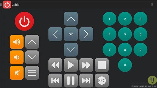 کنترل از راه دور تلویزیون با دستگاه اندرویدی