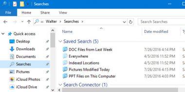 ذخیره نتیجه جستجو در ویندوز