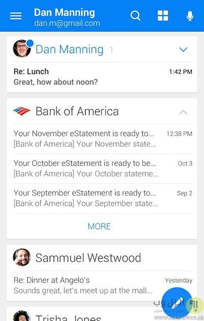 مدیریت بهتر ایمیل با استفاده از بهترین برنامه های ایمیل اندروید