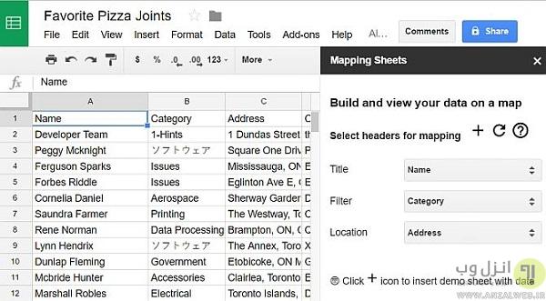 google-sheets-map