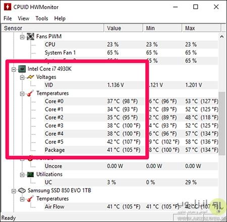 برنامه های مشاهده و بررسی دمای CPU
