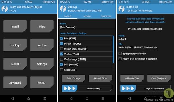 آموزش نصب رام و کاستوم رام بر روی گوشی و تبلت اندروید - انزل وب
