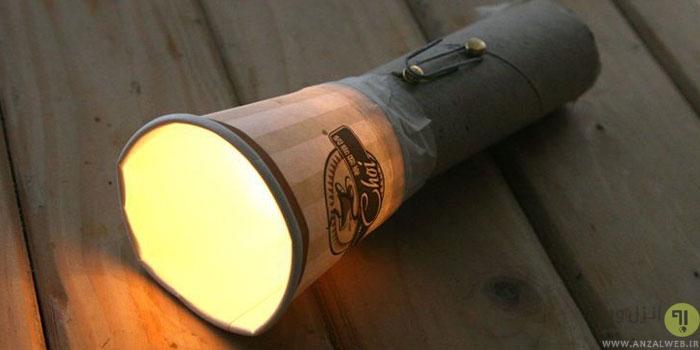 آموزش ساخت چراغ قوه خانگی و خلاقانه