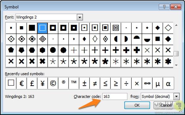 ساخت چک باکس و علامت مربع در اسناد ورد