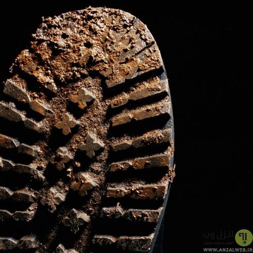 تمیز کردن کف چکمه