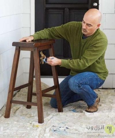 ریختن رنگ چوب لوازم خانه