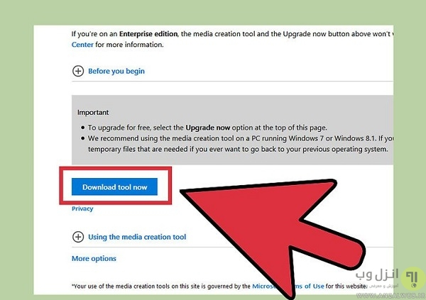 Download the Windows 10 Media Creation