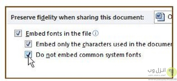 How to embed fonts in Word documents so they stay even if you send the file