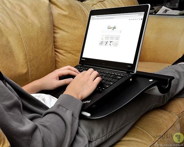 خطرات گذاشتن لپ تاپ روی پا