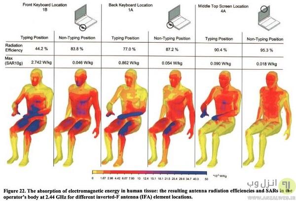 میزان جذب اشعه (SAR) برای انسان