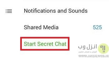 start secret chat- حالت Last seen recently در تلگرام و تشخیص آنلاین بودن شخص