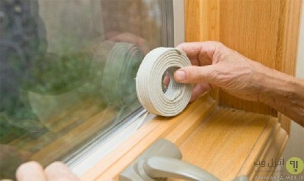 بستن درز پنجره ها