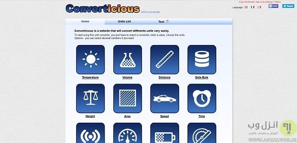 بهترین ابزار تبدیل واحد آنلاین پول ، فشار ، لیتر و سایر واحد های اندازه گیری